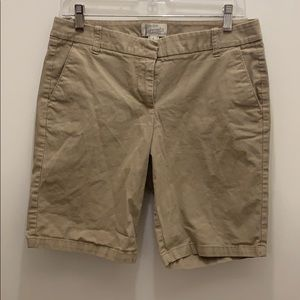 J. Crew Factory khaki Bermuda shorts